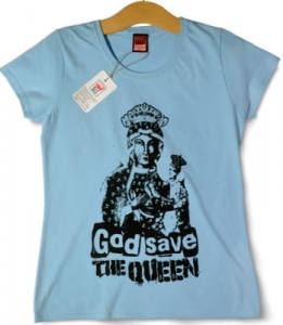 Koszulka God save the Queen damska